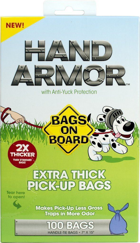 Bags on Board Hand Armor Extra Thick Handle Tie Bags (100 bags)