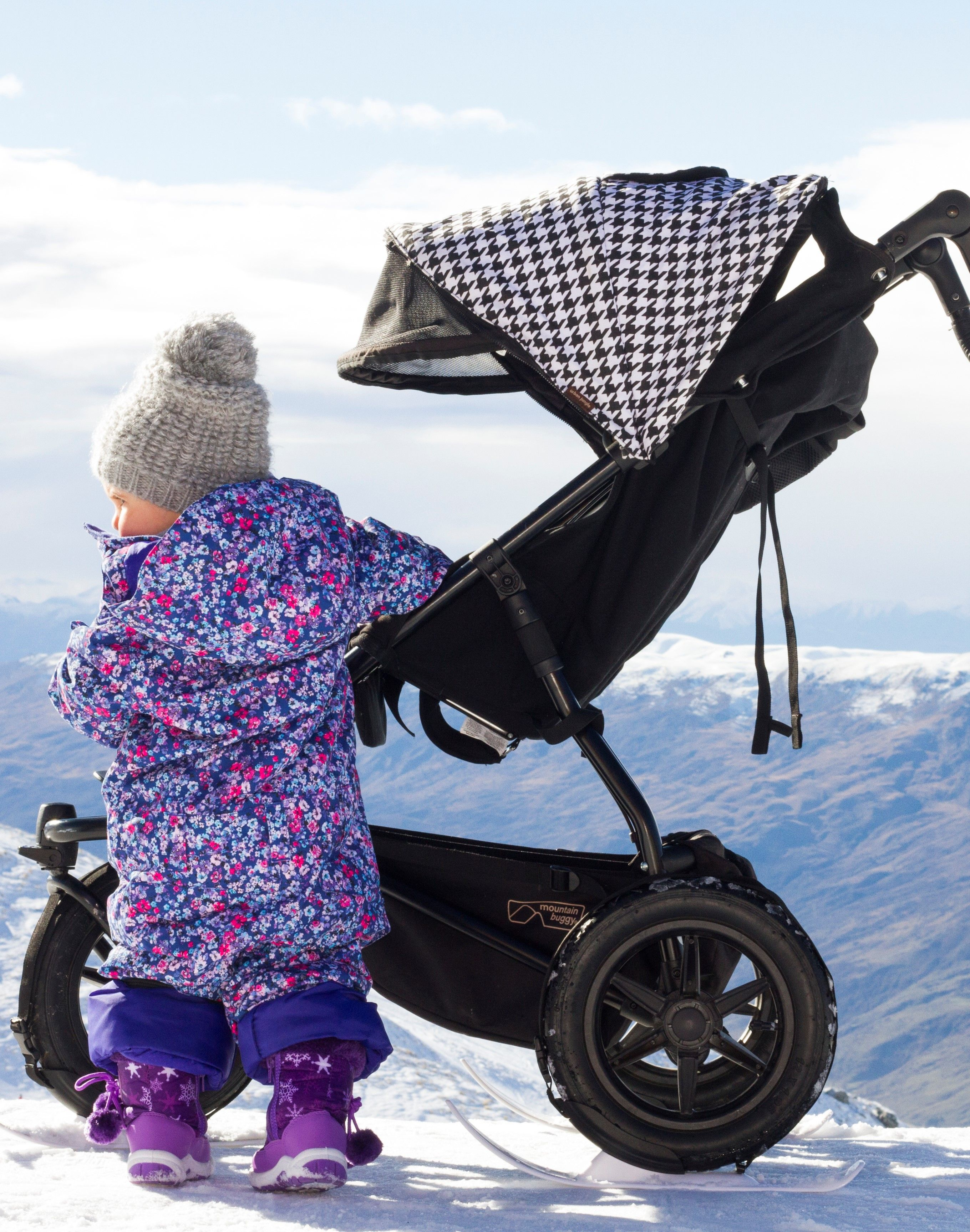 Mountain Buggy Zum Joggen Winter Ski Baby Winter Skiing Mountain Buggy