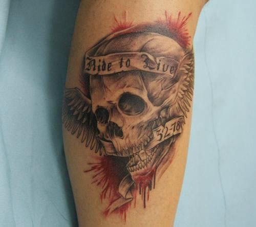 Live To Ride Ride To Live Tattoos