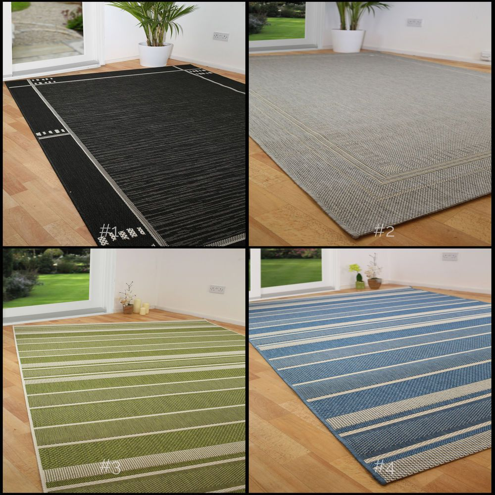 SMALL - EXTRA LARGE FLATWEAVE INDOOR OUTDOOR DURABLE CONSERVATORY MODERN RUGS in Home, Furniture & DIY, Rugs & Carpets, Rugs | eBay