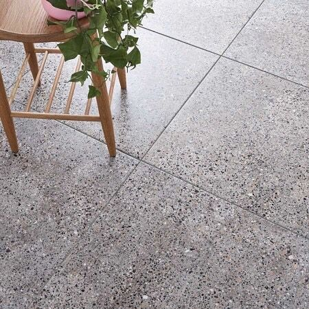 Gray Terrazzo Tiles Size 600x600x10 5mm Status Available