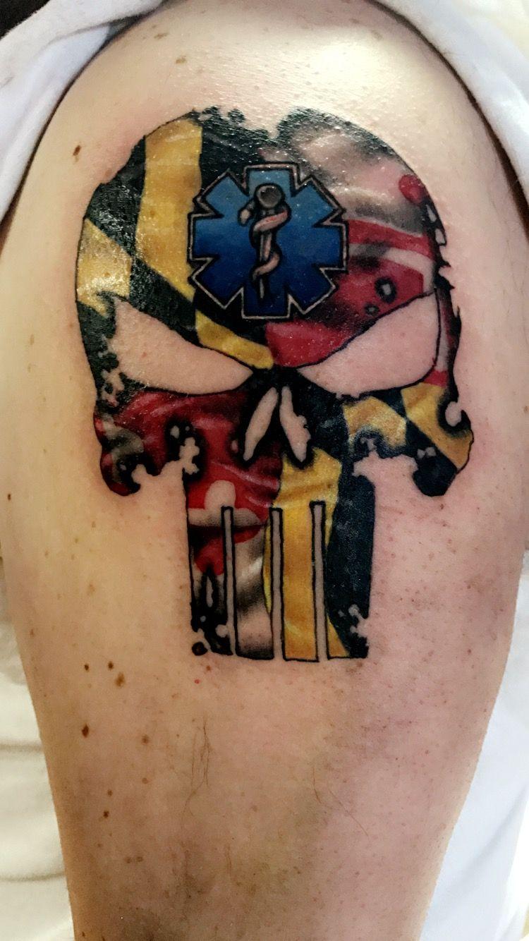 Maryland And Washington D C Flag Ripped Skin Tattoo Ripped Skin Tattoo Pearl Jam Tattoo Tattoos