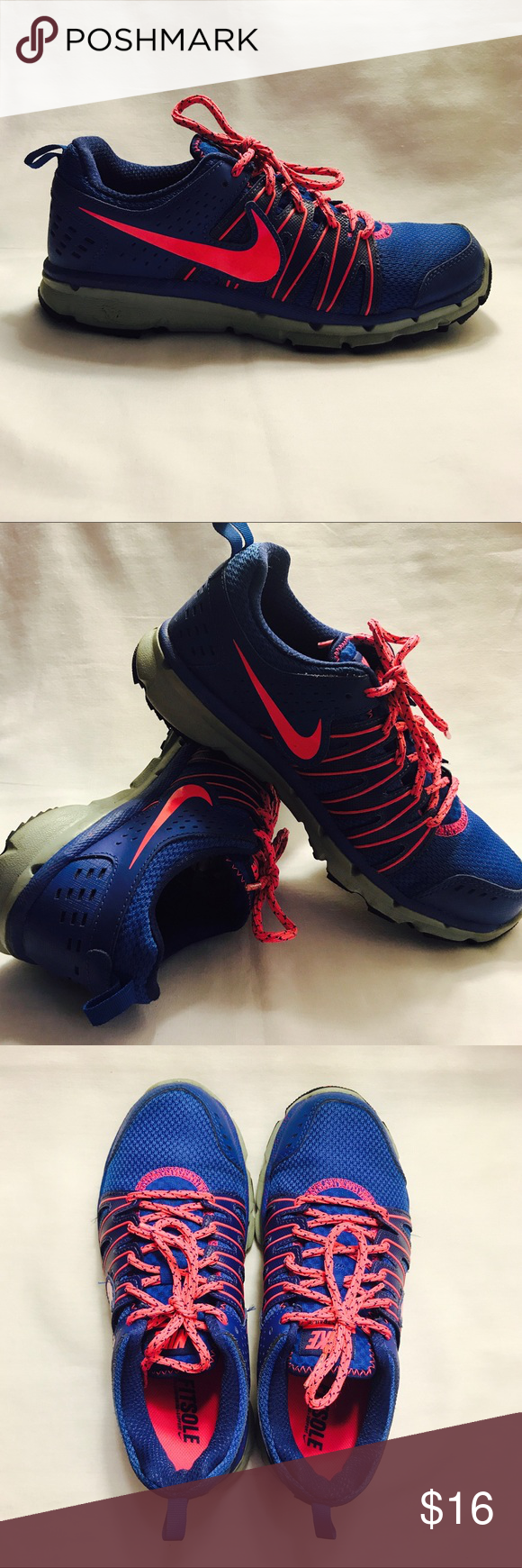 04e8e7c641fda Nike Flex Trail 2 Running Shoes Synthetic-And-Mesh. Rubber sole. Features  FitSole inner cushion. Could use some minimal cleaning