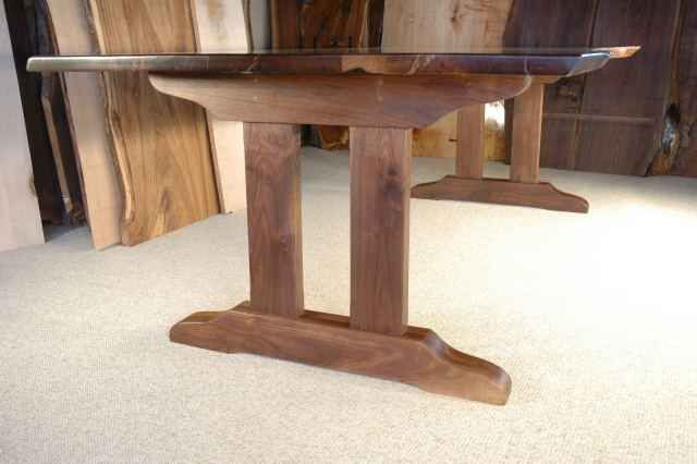 pedestal desk leg ideas custom rustic table bases page 1