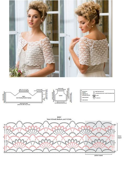 El bolero de boda de Red Heart | Crochet | Pinterest | Boleros de ...