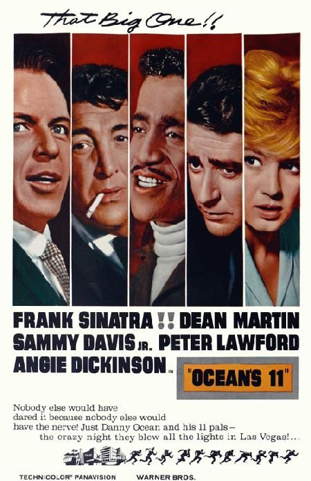 High Quality Reproduction Movie Poster For Ocean S Eleven Starring Frank Sinatra Dean Martin And Sammy Da Classic Movie Posters Vintage Movies Oceans 11 Movie