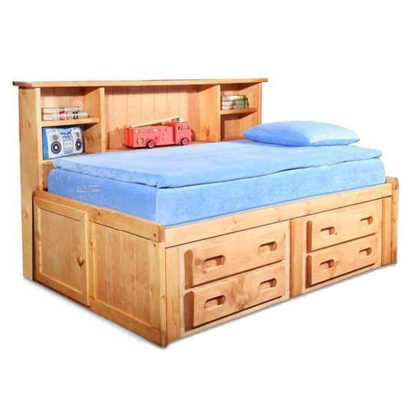 Bunkhouse Full Captains Bed In 2020 Twin Captains Bed