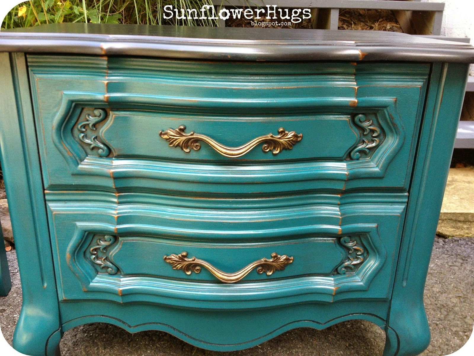 Two Toned Furniture Makeovers | Martha stewart, French provincial ...