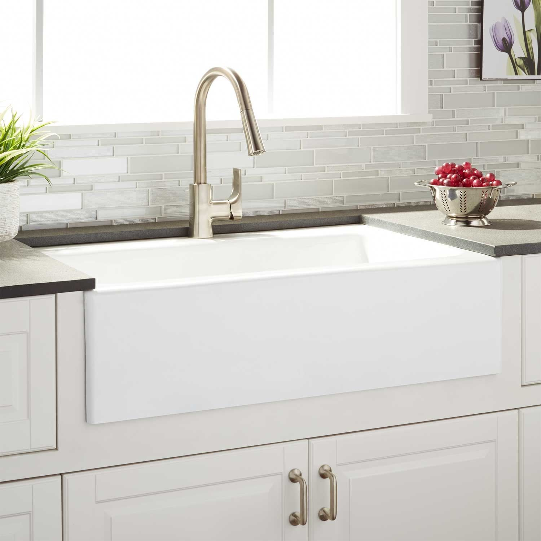 farm sinks for kitchens rustic alder kitchen cabinets 33 quot almeria cast iron farmhouse sink furniture
