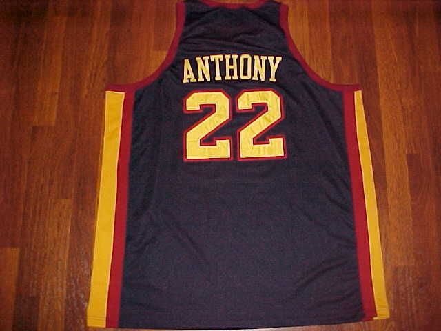 Signature Series Ltd Legendary Game Oak Hill Carmelo Anthony  22 Black  Jersey 20af212b7