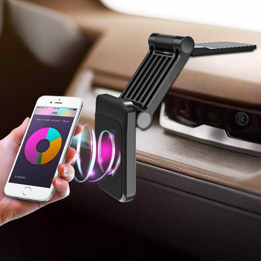 Cell Phone Car Mount Holder, Foldable Dashboard