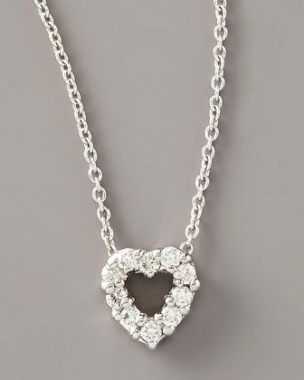 Diamond Heart Pendant Necklace by Roberto Coin at Neiman Marcus.