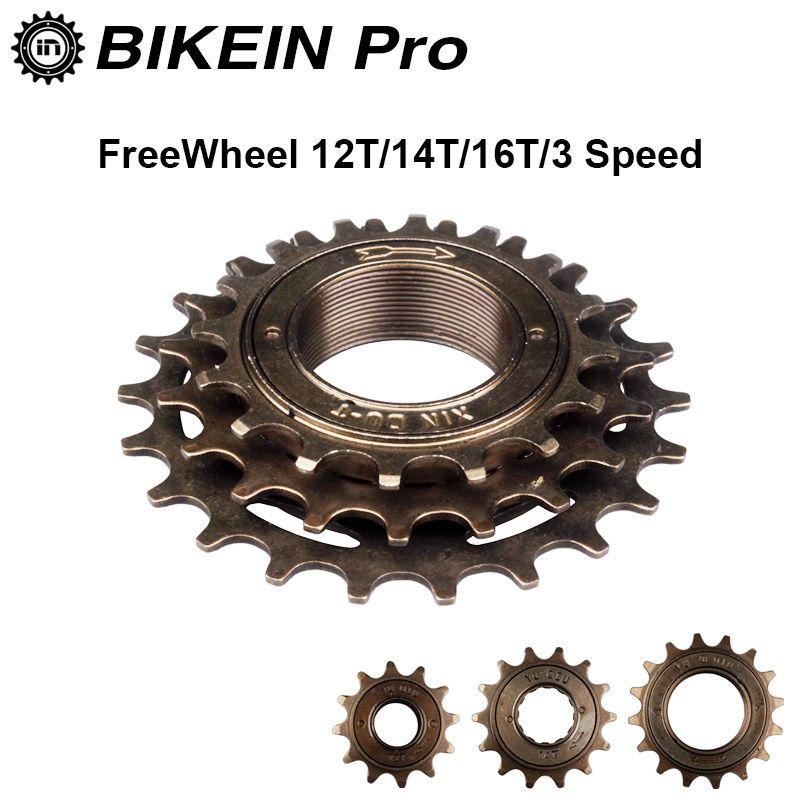 BIKEIN MTB Bicycle Part Single Speed 12T//14T//16T 3 Speed 16T//19T//22T Freewheel