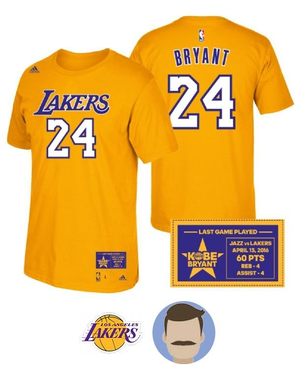 a8e1b0c384a7 Men s Kobe Bryant Name   Number Sleeved T-Shirt