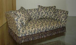 Polstret sofa - Miniaturehuset