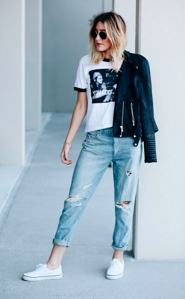 | Jeans + Camiseta + Tênis - Combo confortável e super estiloso! |