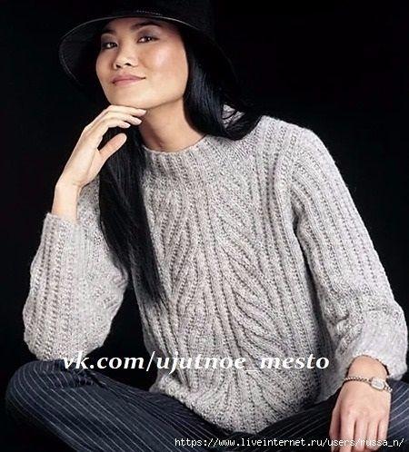 уютное место вязание переводы Vogue Knitting Pullover и