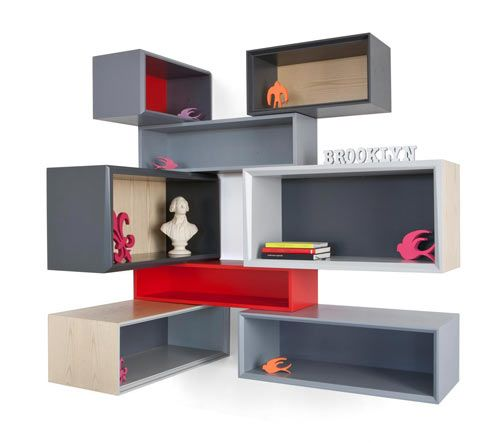 Clever Storage Furniture From Think Fabricate Cool Bookshelf Shelves Shelf Design