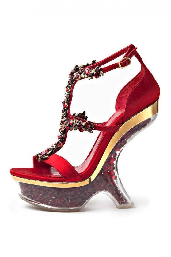 Mod Heels - Red Alexander McQueen RZ7ooSAy