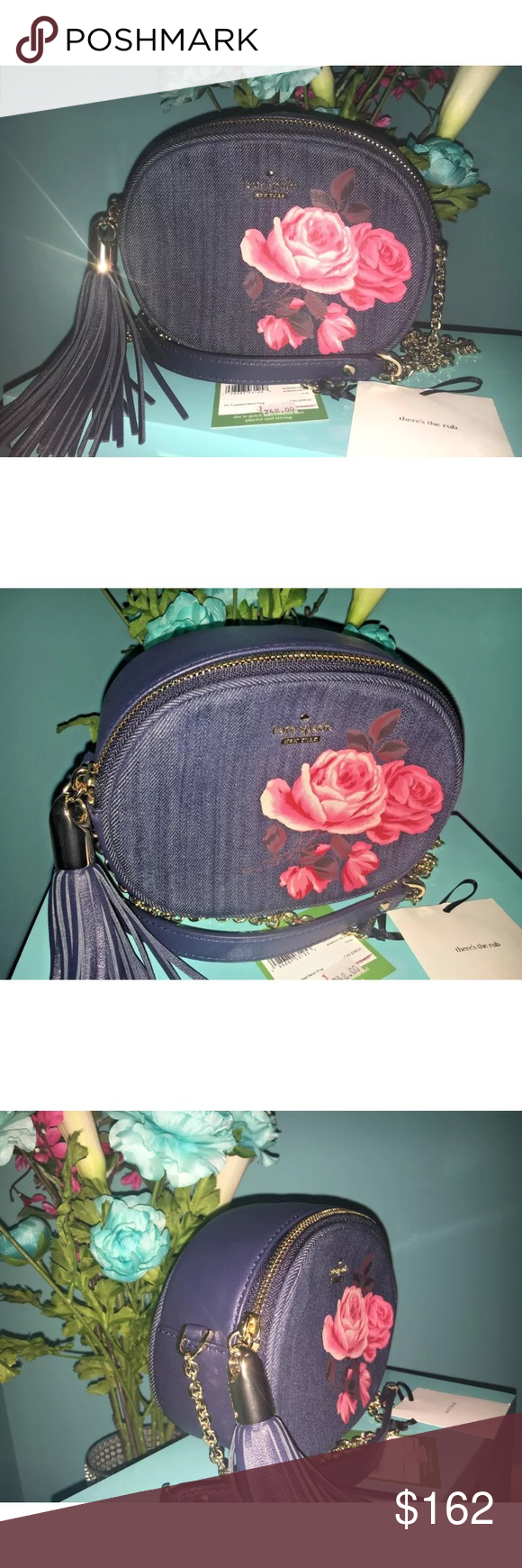af5c2f1292 Kate Spade Denim 🌹Rose Tinley Crossbody Bag Brand New with Tags Kate Spade  Emerson Place