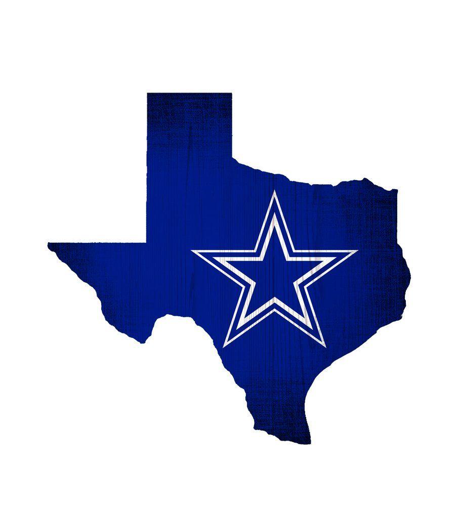 Dallas cowboys sign wood logo state design dallas