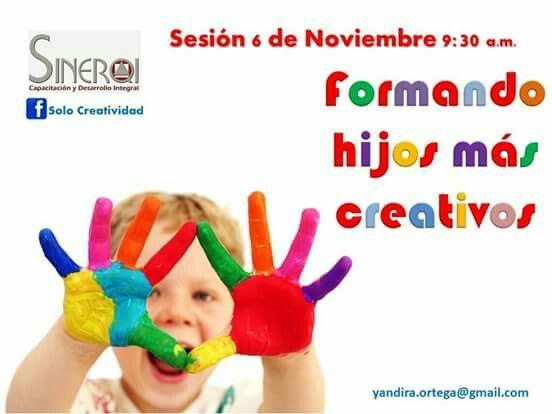 Recuerda que tu primera sesion es gratis para que conozcas el taller. www.facebook.com/CreatividadSinerqi