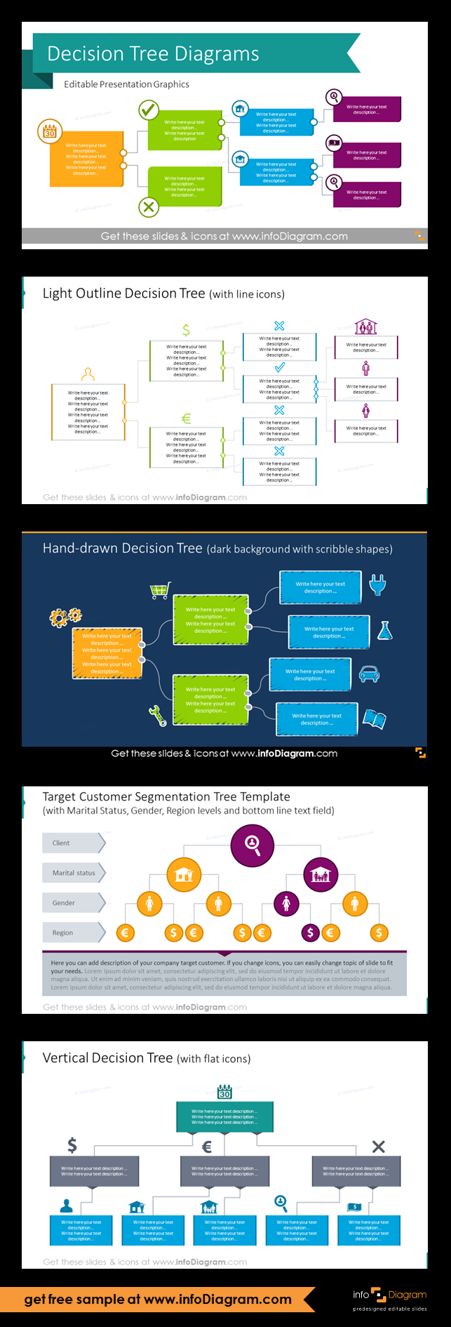 12 Creative Decision Tree Diagram Powerpoint Templates For Classification Flow Chart Infographics Decision Tree What Is Credit Score Tree Templates