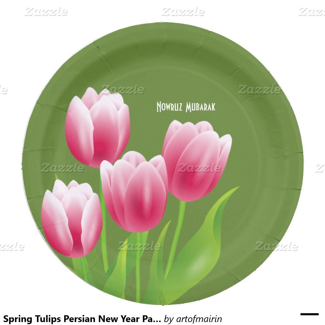Spring tulips persian new year party paper plates persian spring tulips persian new year party paper plates kristyandbryce Gallery