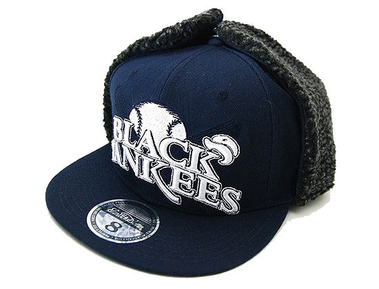 STALL   DEAN「NY Black Yankees」Fitted Baseball Cap  f9ba7884f8c