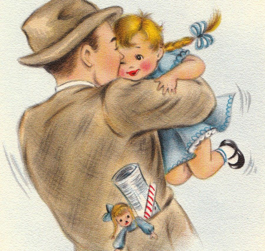 Image result for vintage paintings fathers day