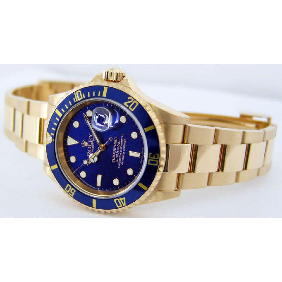 Rolex Blau Gold