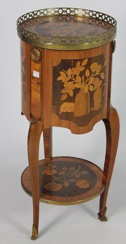 Rare Table Dite Tambour En Bois De Placage De Bois De Rose Et Amarante Furniture Table Home Decor