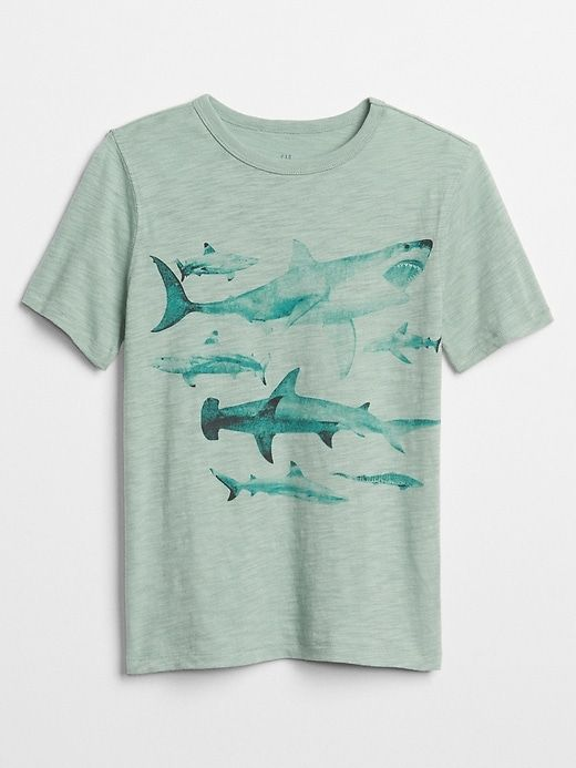 e1f2f0cf Gap Boys Graphic Short Sleeve T-Shirt Ashbury Green | Products in ...