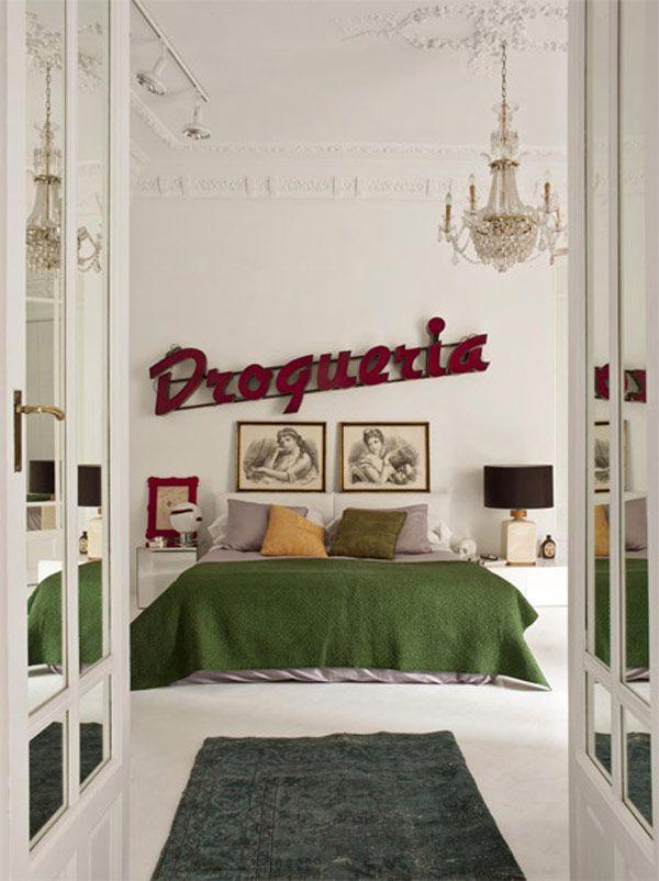 Unique Modern Bedroom Green