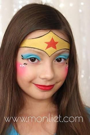 Image Result For Wonder Woman Face Paint Superhero Face Painting Girl Face Painting Face Painting Halloween