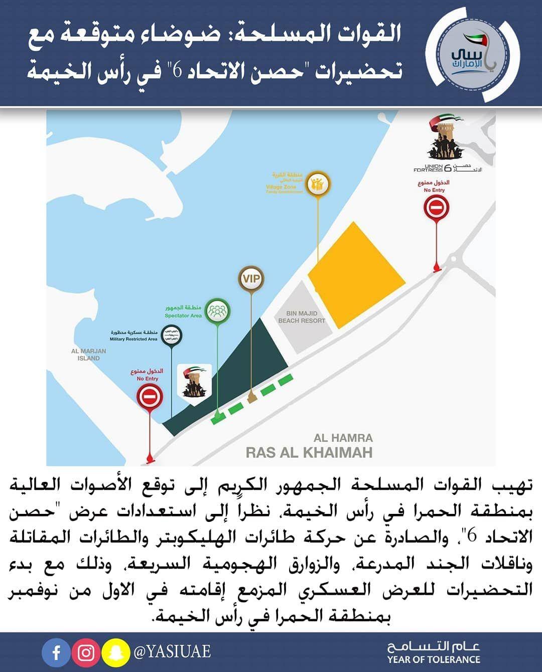 القوات المسلحة ضوضاء متوقعة مع تحضيرات حصن الاتحاد 6 في رأس الخيمة ياسي الامارات In 2020