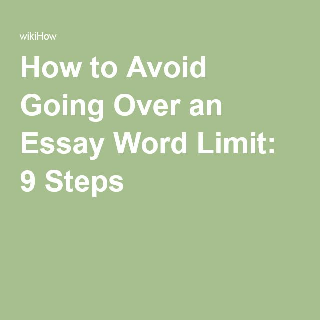 Avoid Going Over an Essay Word Limit Short essay, Cultural studies