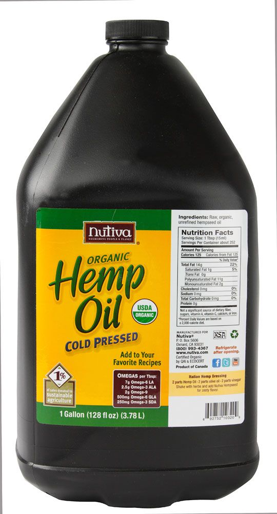 Nutiva Organic Hemp Oil - Gallon from VitaCost.com is the best deal :0)