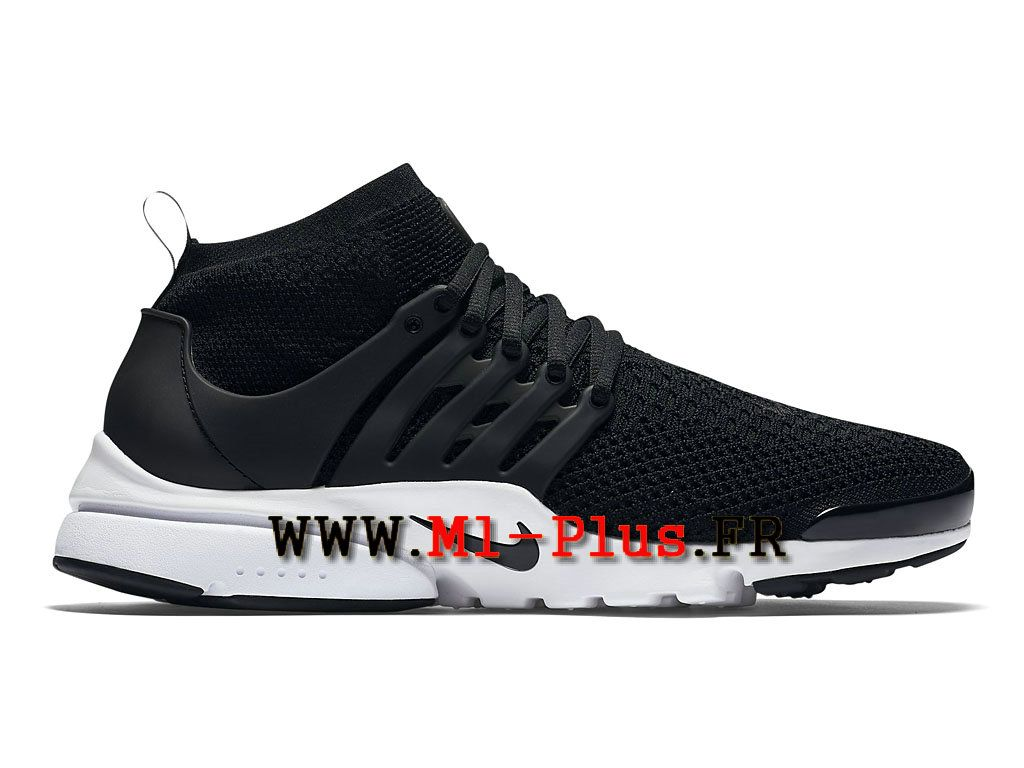 Nike Air Presto Flyknit Ultra Olympic Chaussures de Sports Nike Pas Cher  Pour Homme Noir/