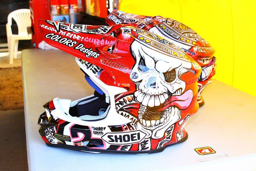 Motocross Helmet Stickers Szukaj W Google Helmets Pinterest - Motorcycle helmet designs custom stickers