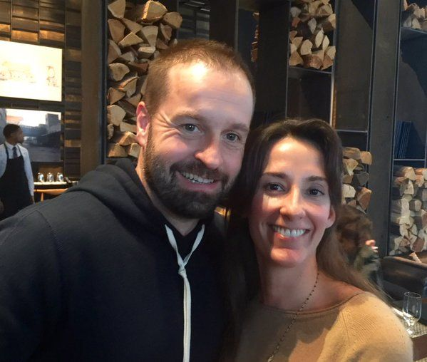 Alfie Boe and wife, Sarah, at lunch with Ronna (from Ronna and Beverly) at Colicchio & Sons, New York City. 28 Nov 2015