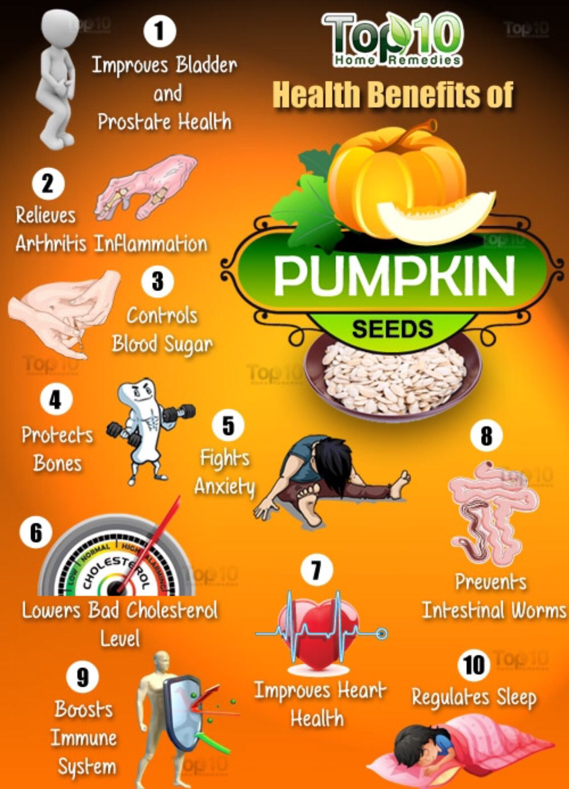 Top 10 pumpkin seed benefits Pumpkin seeds benefits