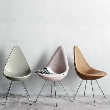 Stuhl Arne Jacobsen 1958 drop chair arne jacobsen for fritz hansen stuhl pastel