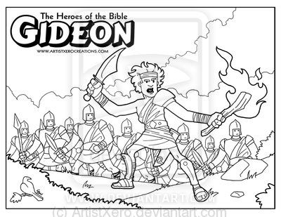 free printable bible coloring page of gideon Gideon coloring