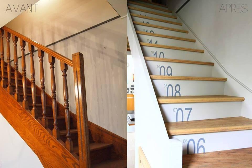 Moderniser Son Escalier relooker son escalier avant & après | escalier | pinterest | home