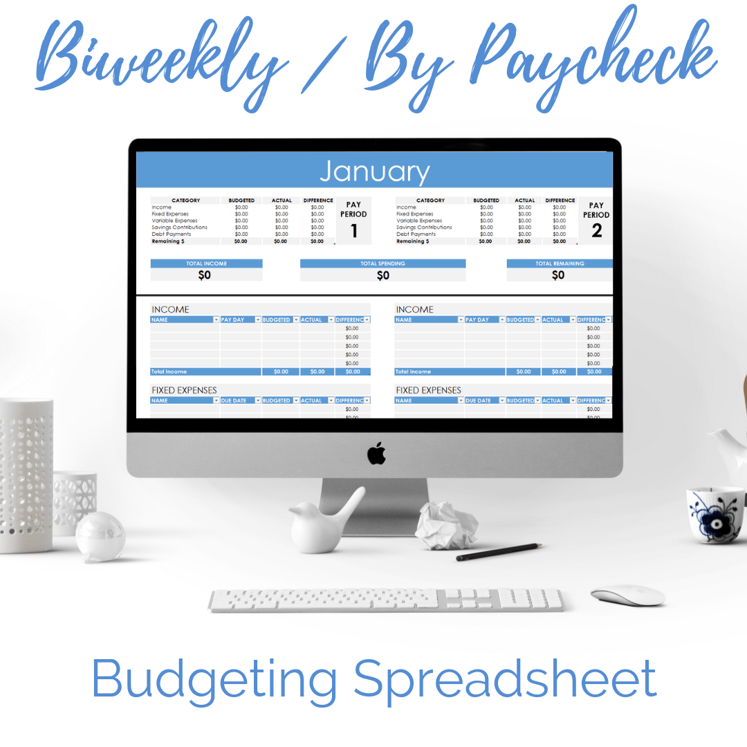 Biweekly Semimonthly Amp By Paycheck Budgeting Spreadsheet