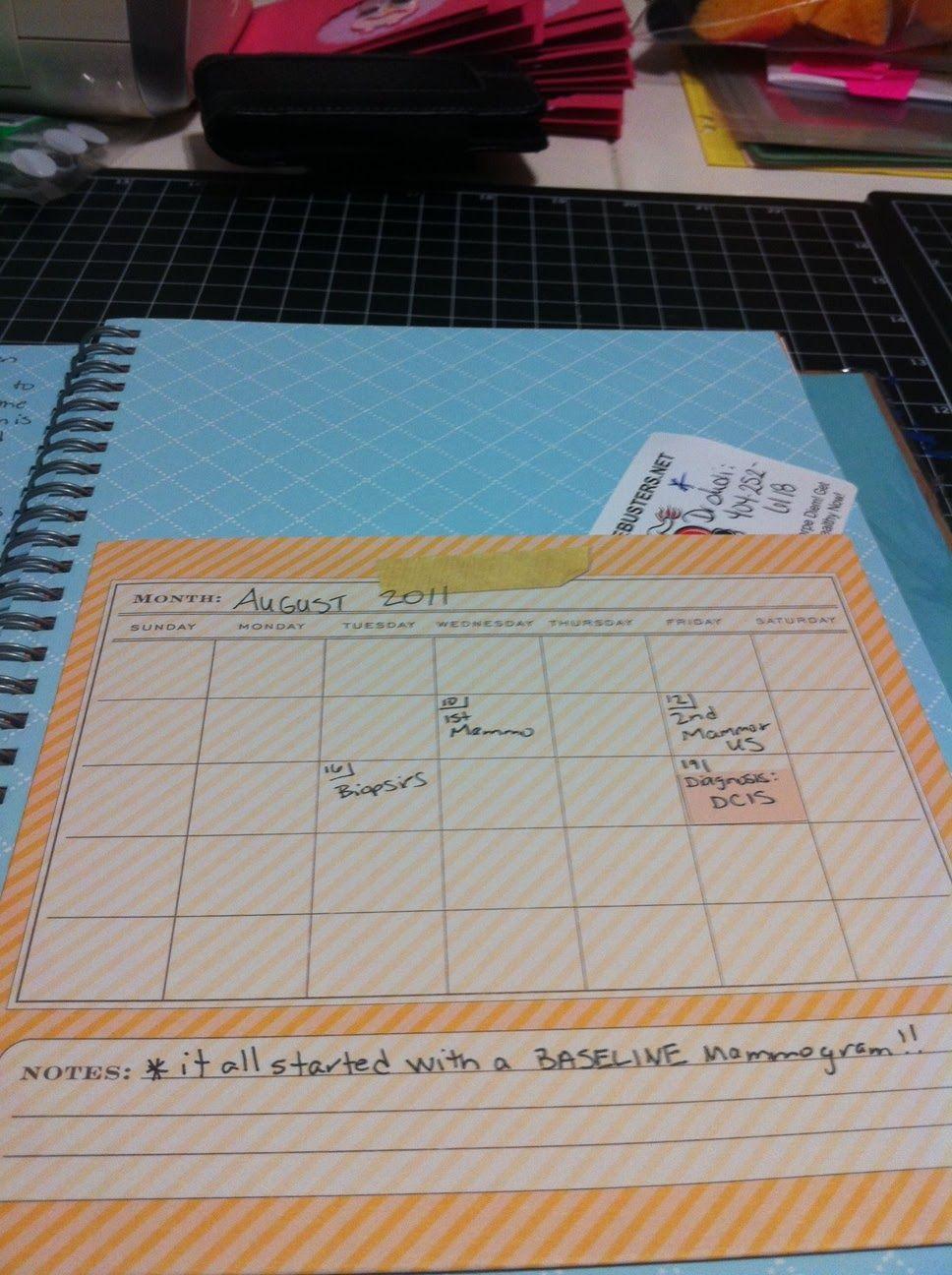 smash calendar - good for weight loss journal.....