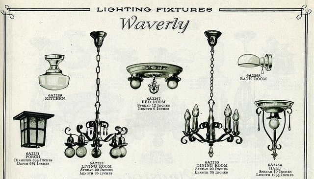 1920s Catalog Page Bedroom Light Fixtures 1920s Home Decor Diy Home Decor Easy