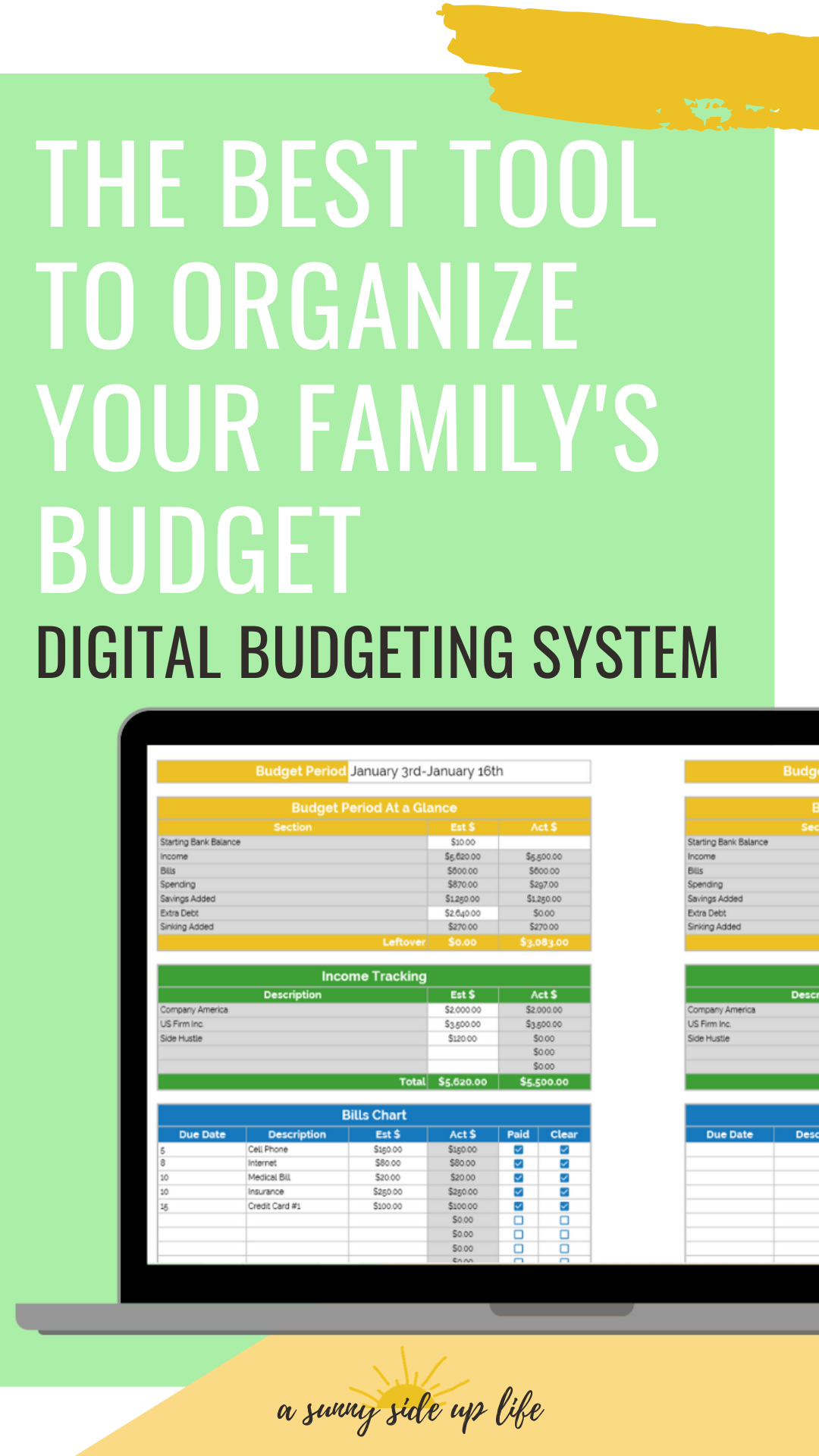 the best tool to organize your family's budget