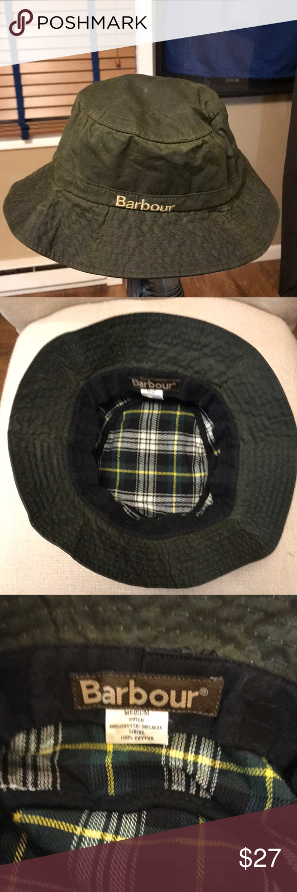 8ebdfe76825 BARBOUR® DEVON SPORTS HAT Water-repelling waxed cotton takes this  bucket-style sports